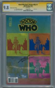 Grant Morrison's Doctor Who #1 Retail Variant CGC 9.8 Signature Series Signed Grant Morrison IDW comic book